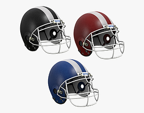 Football Helmet 3D model VR / AR ready