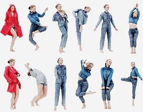 3D 16 Girl in Artistic Pose Bundle