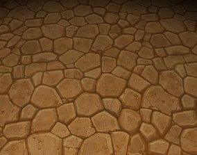 ground stone tile 15 3D model