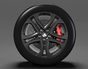 3D Holden Commodore SS wheel 2017