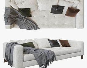 Minotti Pollock White sofa 3D model