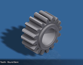 3D print model 16-Tooth Spur Gear 03