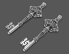 Intricate miniature key pendant 2 3D printable model