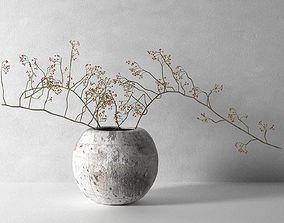 Vase with Rose Hip 3D model