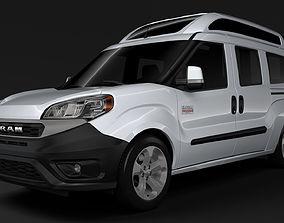 3D model Ram ProMaster City Wagon SLT H2 2019