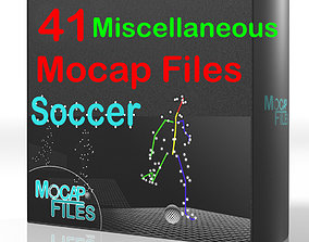 8-Soccer football motion capture animations - 3D 1