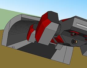 Experimental Gunship 3D asset