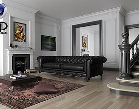 3D model Living Room C4D Vray