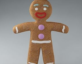 Gingerbread Man 03 chocolate 3D