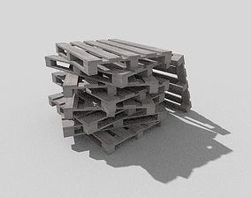 3D model woden pallet 14