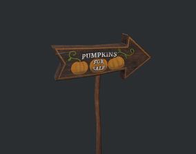 Pumpkins for Sale Sign 3D model