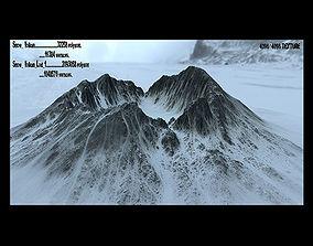 3D asset snow crater 01