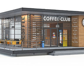 3D model Coffee shop building