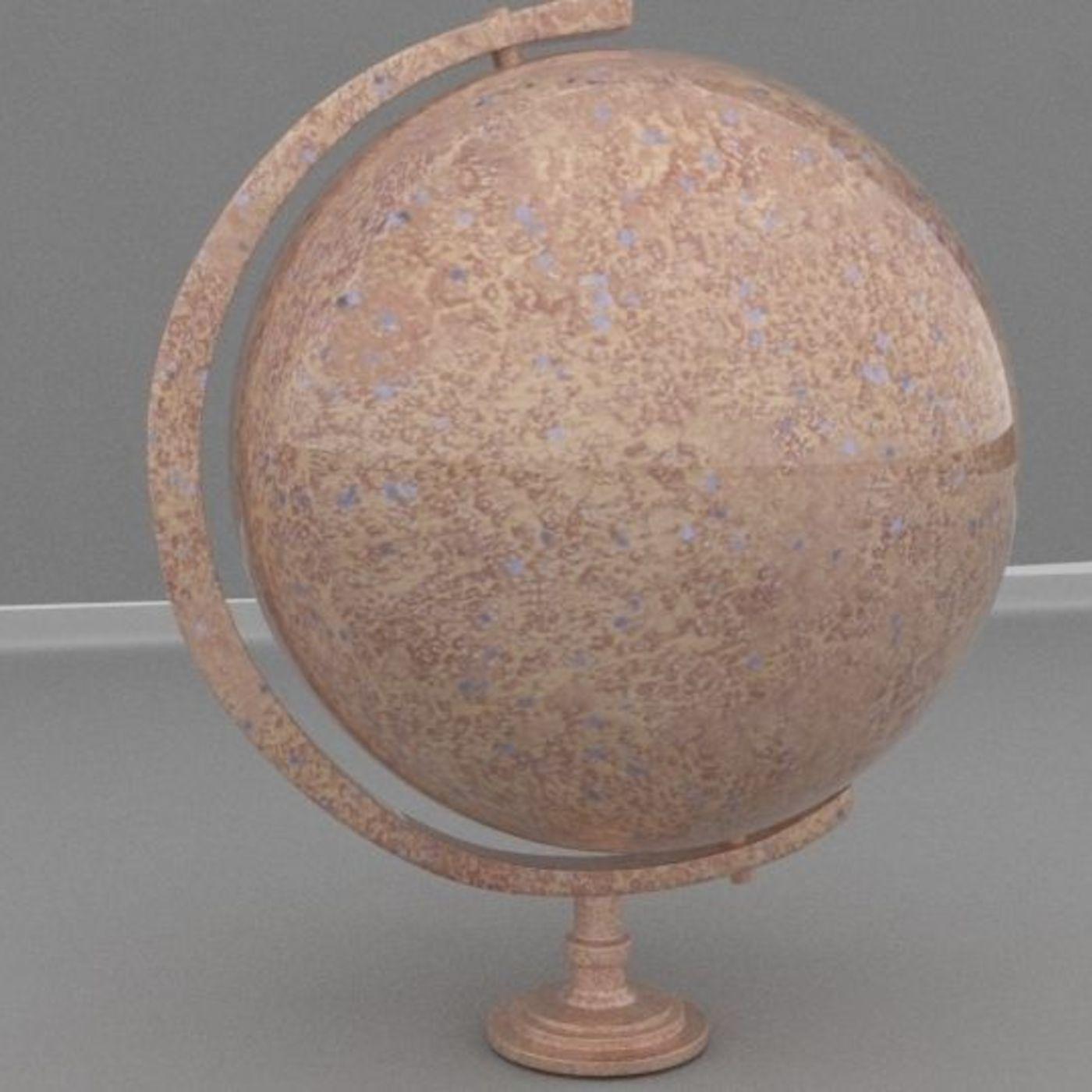 Rusty metallic globe