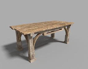 low poly medieval table 3D model