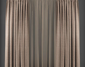 Curtain 3D model 213 game-ready