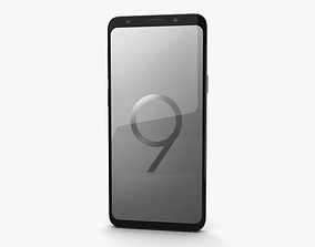 3D model Samsung Galaxy S9 Titanium Gray