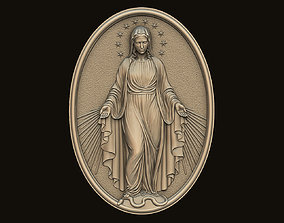 Virgin Mary Medallion no 3 3D printable model