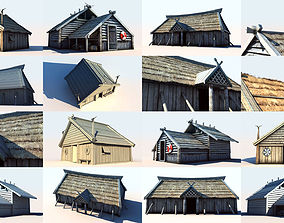 Viking Houses Collection 3D model