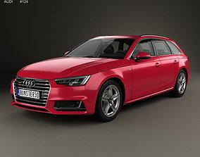 Audi A4 S-Line B9 avant 2016 3D model