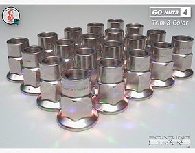 3D model GoNuts 4 Trim and Color AM01 Car Wheel Lug Nut
