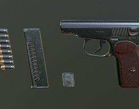 3D asset PISTOL PM