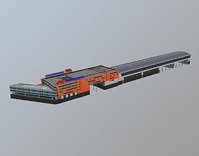 3D asset Airport Railroad Station UUEE Aeroexpress