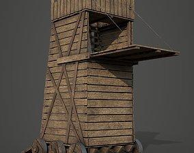3D asset Medieval Siege Tower