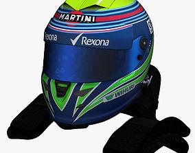 3D model Massa Helmet 2016