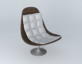 3D model WOODY chair taupe Maisons du monde