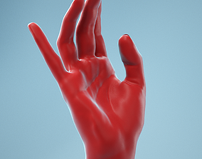 3D Elegant Relaxed Realistic Hand Model 01
