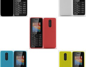 Nokia 108 Dual SIM collection 3D model