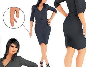 Sandra Bullock Standing Pose 1 3D model
