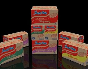 Indomie Noodle Box Package Collection 3D VR / AR ready