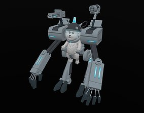 3D model Dog robot in Ricky and Morty