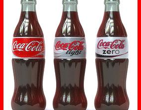 3D Coca Cola Bottles Pack