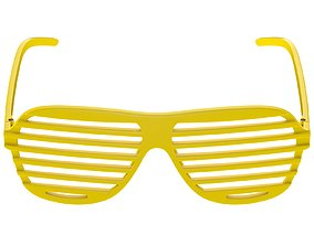 3D model Shutter Glasses Yellow