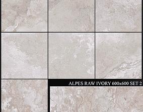 ABK Alpes Raw Ivory 600x600 Set 2 3D model
