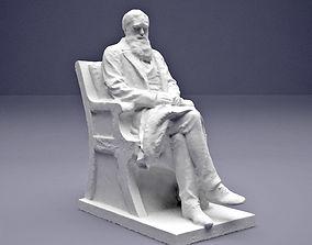 Charles Darwin statue 3D printable model