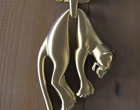3D print model rings pendant panther