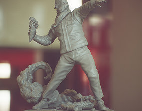 Bansky Rioter STL Statue for 3D printing