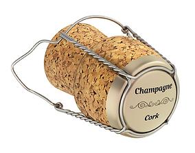 3D Champagne Cork cap