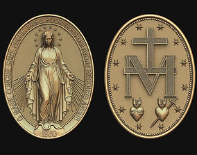3D printable model Virgen Milagrosa Miraculous Medal