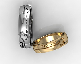 Two models of engagement ring stl 3dm