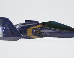 future car 3D model animated