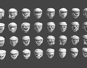 Imperial Soldier Heads with Desert Headgear 3D print model