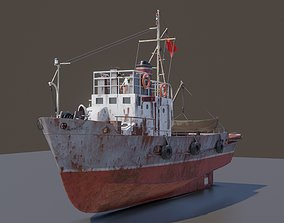 3D model Rusty small fishing seiner MRS-80