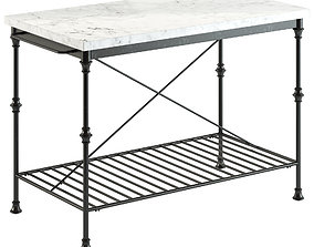 Crate and Barrel French Kitchen Island 3D