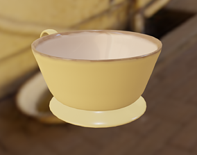 3D model game-ready Ceramic Cup