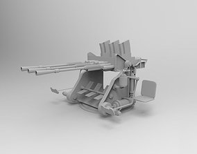 Japanese battleship machine gun of World War 2 3D model